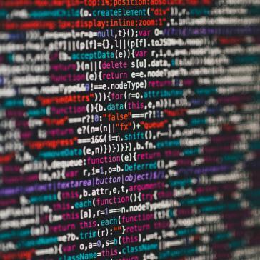 Tilt-Shift Aufnahme von JS Code